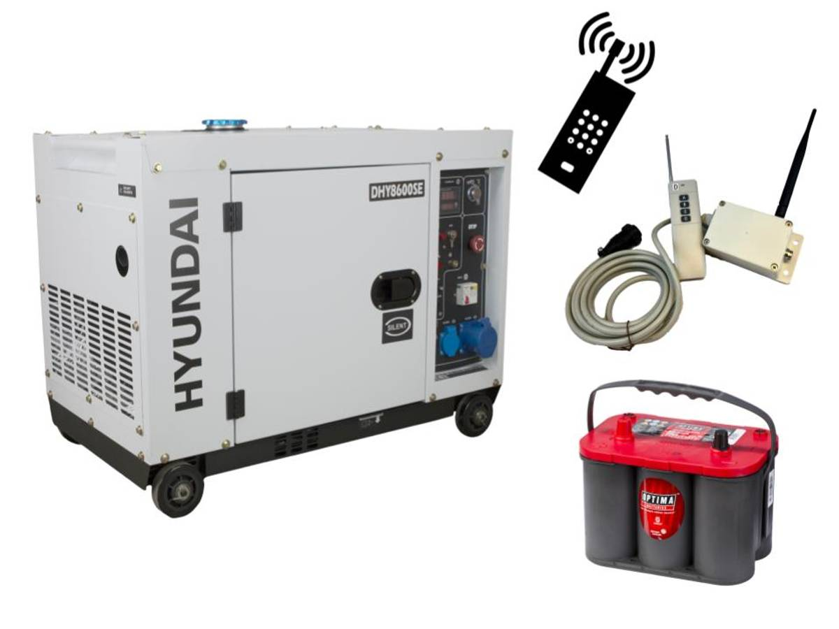 HYUNDAI DHY8600SE Aggregat 6300W - GSM Styring