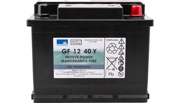 Bilde av SONNENSCHEIN GEL Batteri 12V 40AH (242x175x190mm) +høyre
