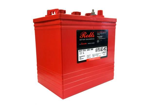 Bilde av ROLLS 6-FS-GC-HC Deep Cycle Batteri 6V 235AH (259x181x279mm)