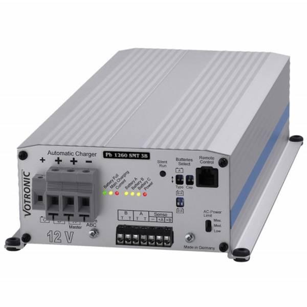 Bilde av VOTRONIC PB1260 Elektronisk Batterilader 12V 60A - 3 kanaler
