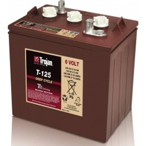 Bilde av TROJAN Deep Cycle Traksjonsbatteri 6V 240AH (262x181x283mm) +dia
