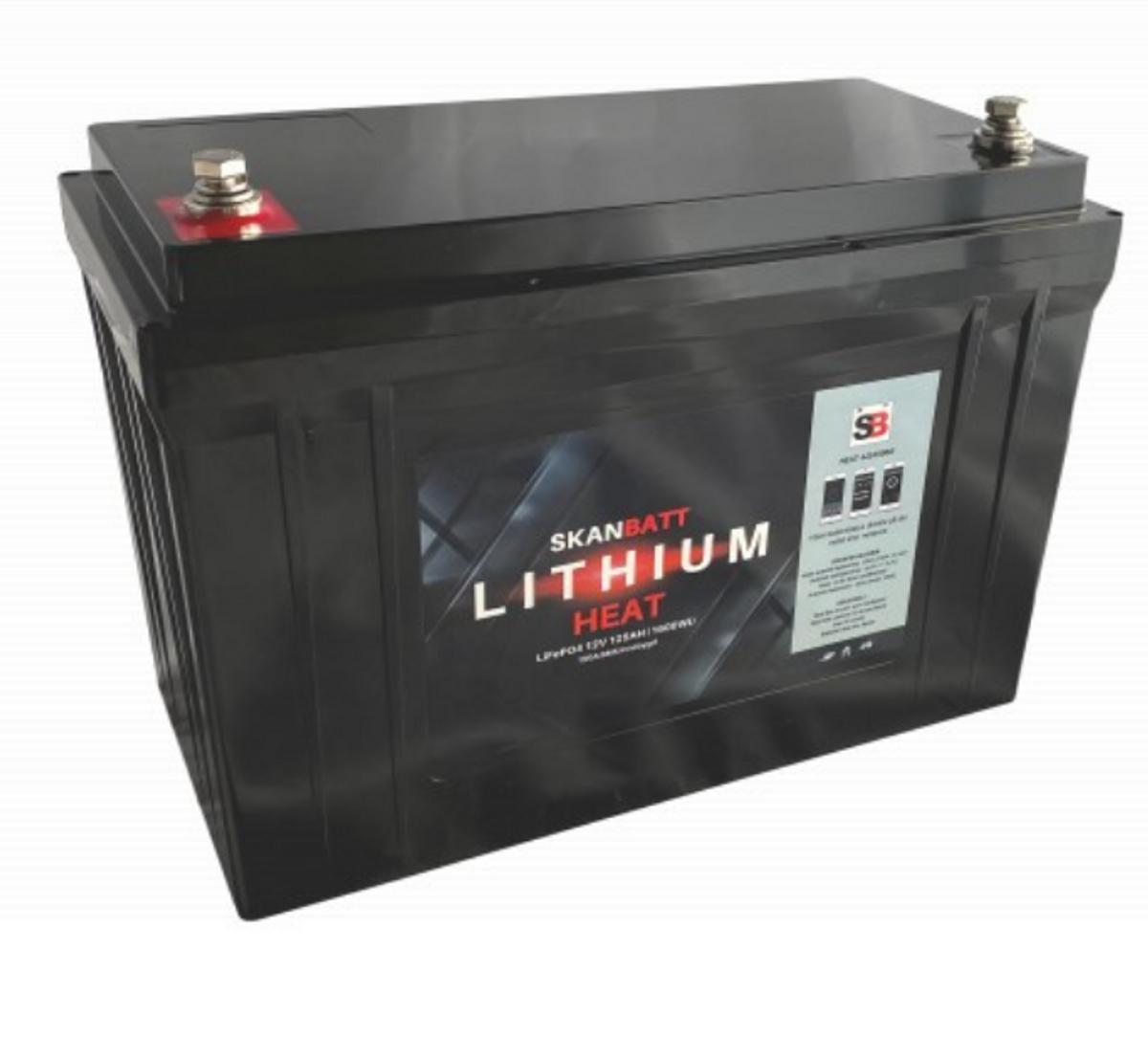 SKANBATT Lithium HEAT Pro 12V 125AH 150A BMS - NYHET