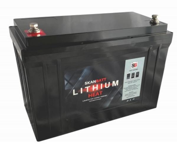 Bilde av SKANBATT Lithium HEAT Pro 12V 125AH 150A BMS - NYHET