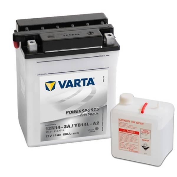 Bilde av VARTA YB14L-A2 MC Batteri 12V 14AH 190CCA (135x90x167mm) +høyre