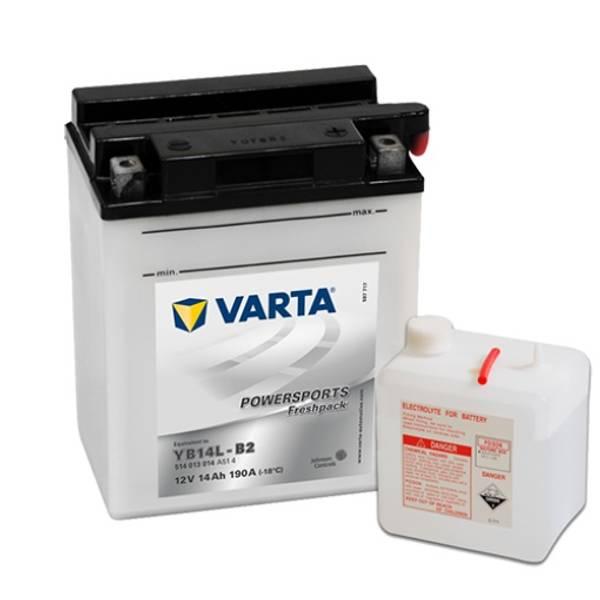 Bilde av  VARTA YB14L-B2 MC Batteri 12V 14AH 190CCA (136x91x168mm) +høyre