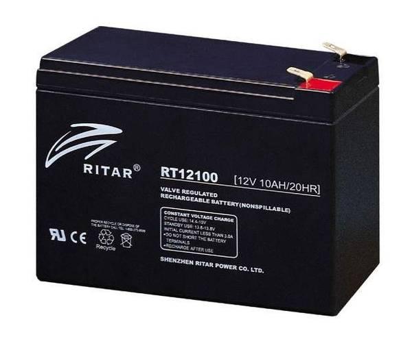 Bilde av RITAR AGM Batteri 12V 10AH (151x65x111mm) F2