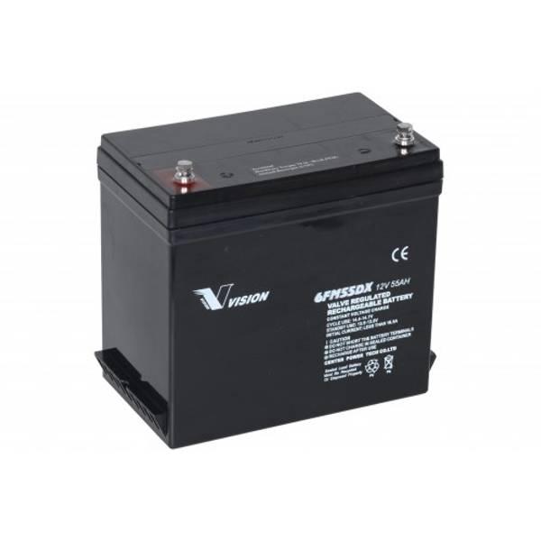 Bilde av VISION AGM Batteri 12V 55Ah (229x138x213mm)