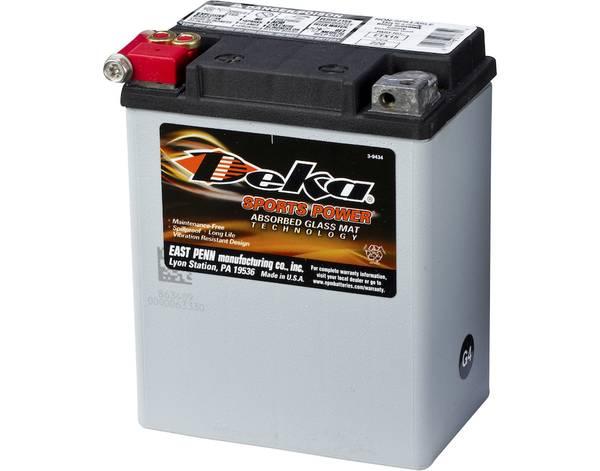 Bilde av DEKA MC Batteri 12V 14AH 220CCA (134x90x166mm) +venstre
