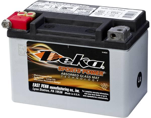 Bilde av DEKA MC Batteri 12V 8AH 120CCA (150x88x106mm) +venstre
