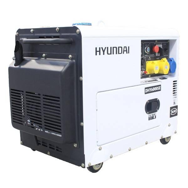 Bilde av HYUNDAI DHY6000SE Strømaggregat 5300W - Elektrisk start - Diesel