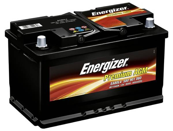 Bilde av EA80L4 ENERGIZER Premium AGM Batteri 12V 80AH 800CCA (315x175x19