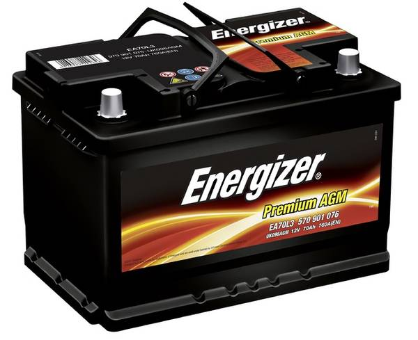 Bilde av EA70L3 ENERGIZER Premium AGM Batteri 12V 70AH 760CCA (278x175x19