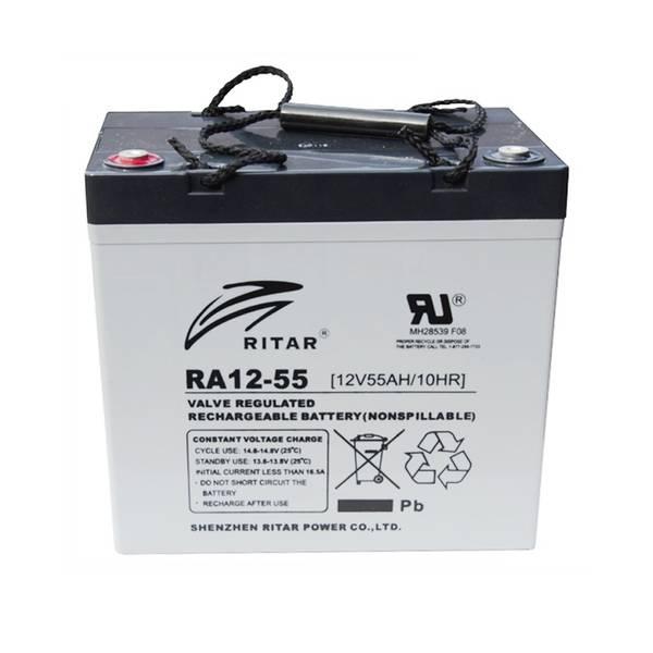 Bilde av RITAR AGM Deep Cycle Batteri 12V 55AH (229x138x235mm) +venstre