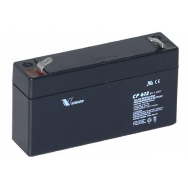 Bilde av VISION AGM Batteri 6V 1,2AH (97x24x58mm)