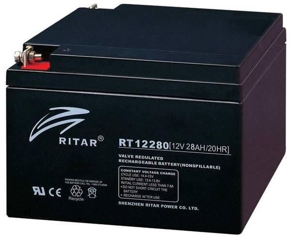 Bilde av RITAR AGM Batteri 12V 28AH (166x175x125mm) M5