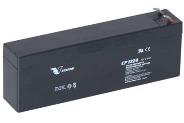 Bilde av VISION CP1226 AGM Batteri 12V 2,6AH