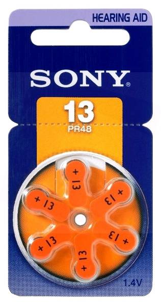 Bilde av SONY Høreapparatbatteri PR13 - 6pk