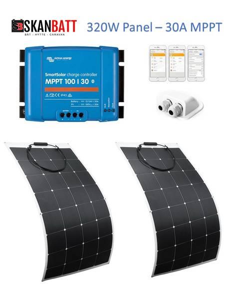 Bilde av SKANBATT Solcellepakke Bobil 320W - Flexi - VICTRON MPPT 30A