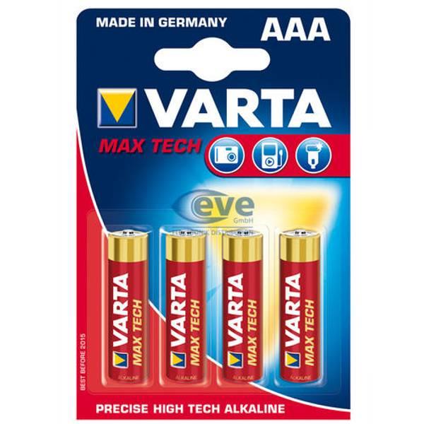 Bilde av VARTA Max Tech AAA 1,5V 4-pakning