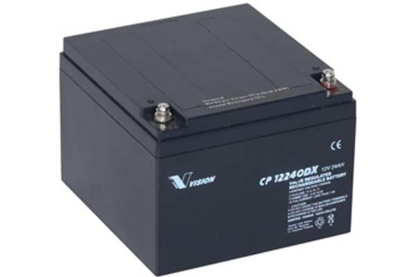 Bilde av VISION 12V 24AH AGM Batteri (166x175x125mm)