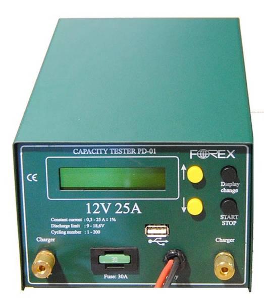 Bilde av FOREX Batteritester / Kapasitetstester Proff Elektronisk 12V, US