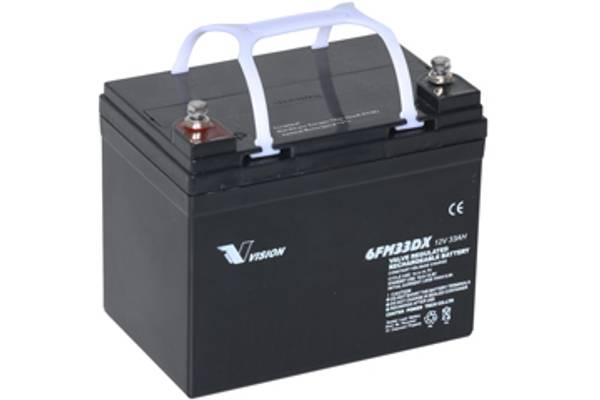 Bilde av VISION AGM Batteri 12V 33Ah (195x130x168mm)