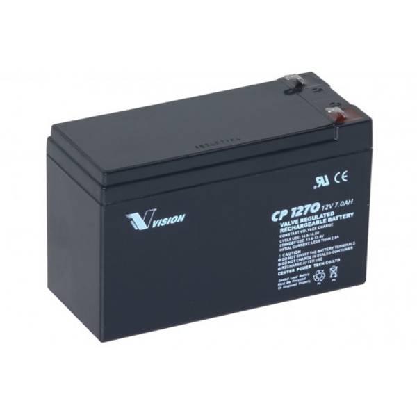 Bilde av Vision AGM Batteri 12V 7AH (151x65x100mm) F1