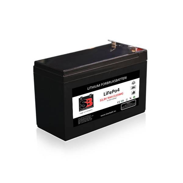 Bilde av SKANBATT Lithium Batteri 12V 9AH 15A BMS