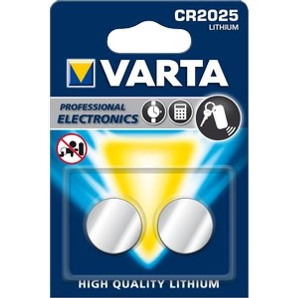 Bilde av VARTA Lithium CR2025 3V 2-Pakning
