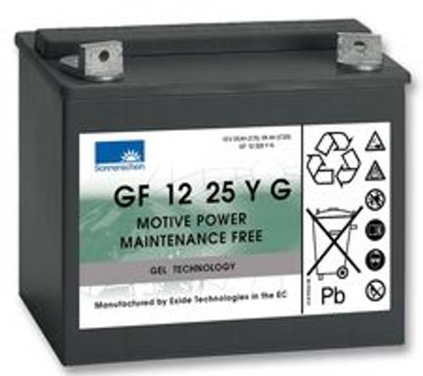Bilde av SONNENSCHEIN GEL Batteri 12V 25AH (197x132x180mm) +venstre