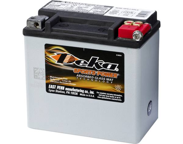 Bilde av DEKA MC Batteri 12V 12AH 220CCA (150x88x145mm) +høyre
