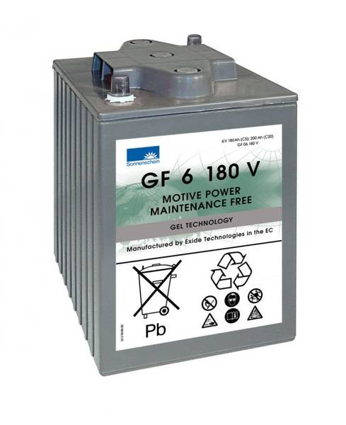 Bilde av SONNENSCHEIN GEL Batteri 6V 180AH (246x192x275mm) +diagonalt