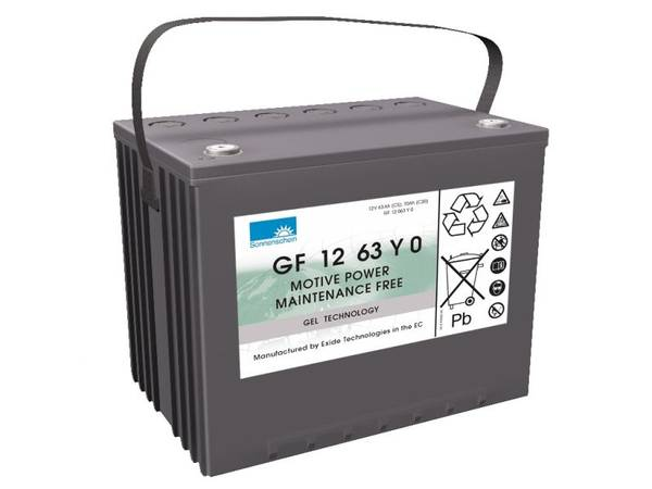 Bilde av SONNENSCHEIN GEL Batteri 12V 63AH (261x171x210mm) +venstre