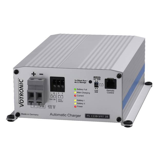 Bilde av VOTRONIC PB1220 Elektronisk Batterilader 12V 20A - 2 kanaler