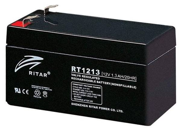 Bilde av RITAR AGM Batteri 12V 1,3AH (97x43x52mm) F1