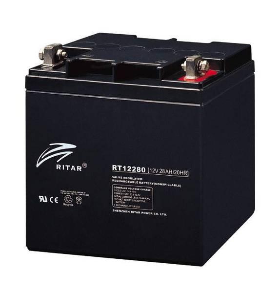 Bilde av RITAR AGM Batteri 12V 28AH (165x128x174mm) M5
