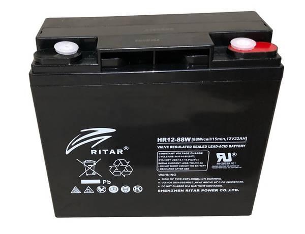 Bilde av RITAR High Rate AGM Batteri 12V 22AH (181x77x167mm) M5