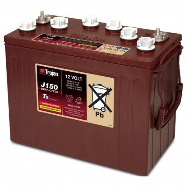 Bilde av TROJAN Deep Cycle Traksjonsbatteri 12V 150AH (354x181x283mm) +ve
