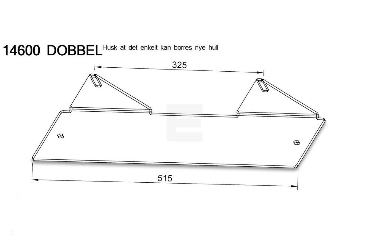 Lumen V5 LED-bar skiltbrakett