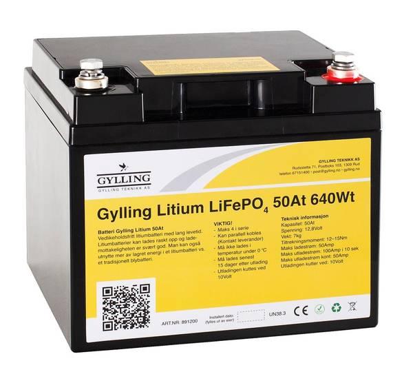 Bilde av Litiumbatteri LiFePo4 50A-