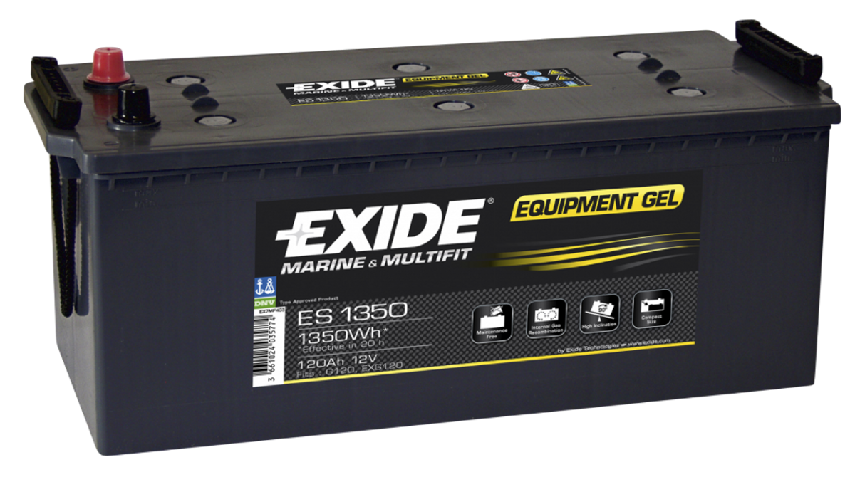 ES1350 EXIDE GEL FORBRUKSBATTERI.