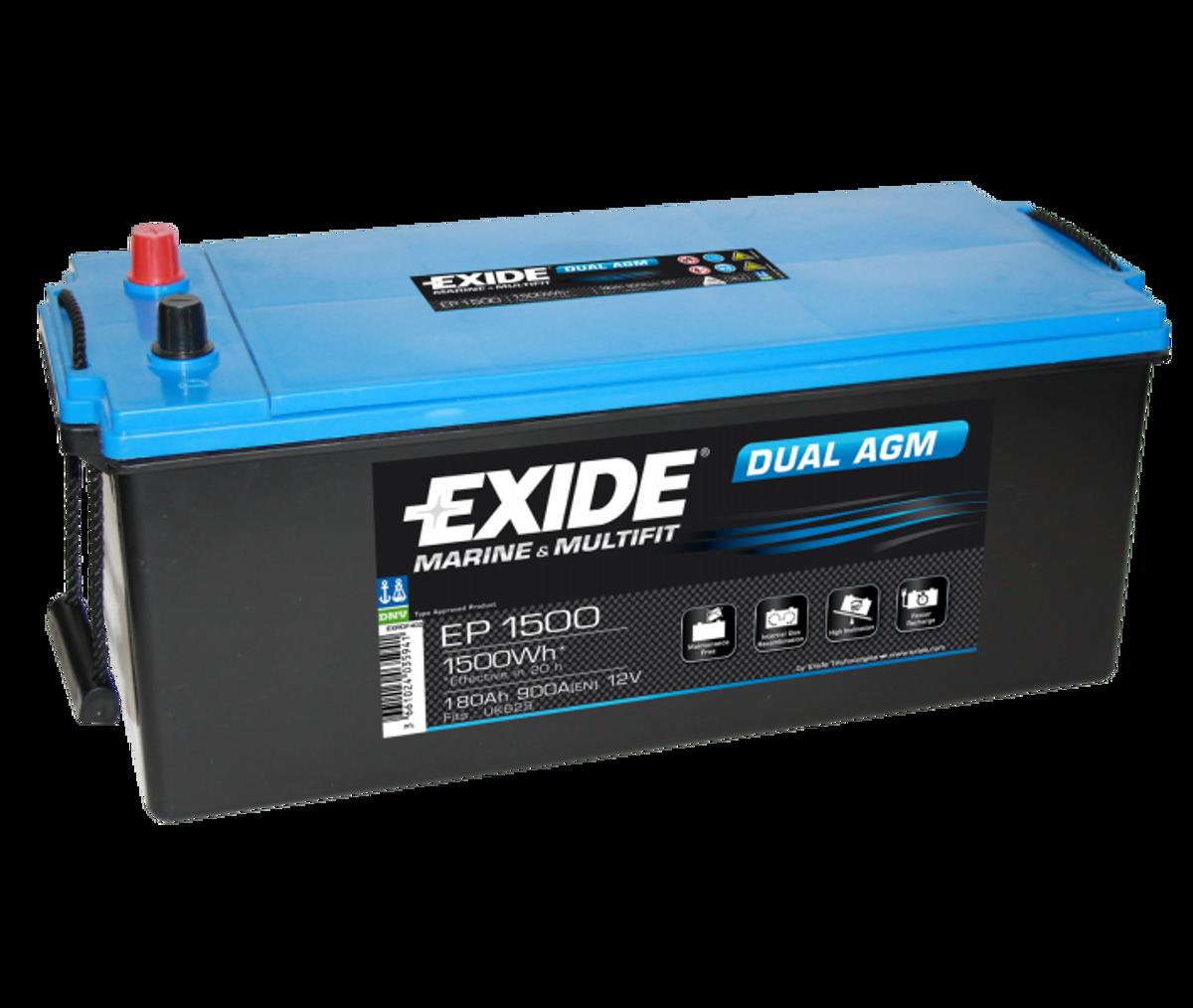 EP1500 EXIDE DUAL AGM