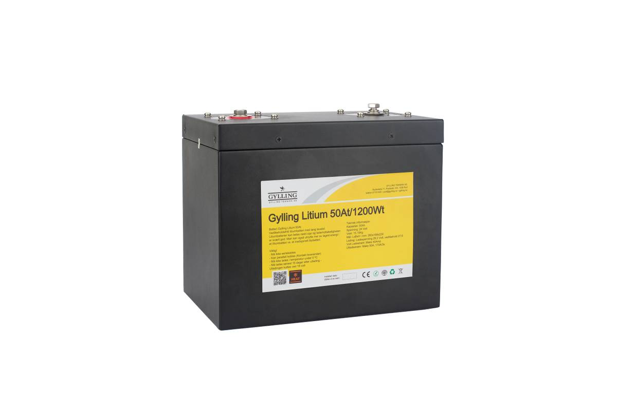 Litium LiFePO4 24V 50Ah w/Heater 1200Wh
