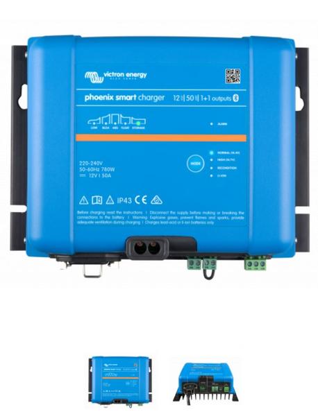 VICTRON Phoenix Smart IP43 Batterilader 12V 50A 1+1 kanaler