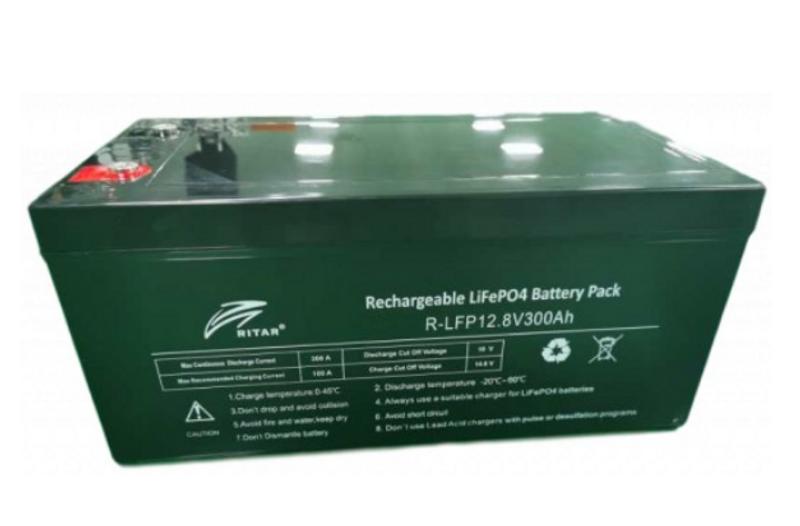 RITAR Lithium 12V 300Ah (LiFePO4) BMS 100A