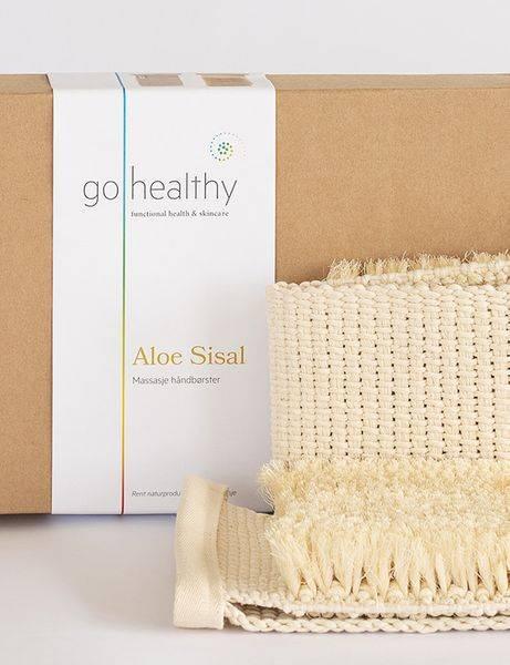 Bilde av GoHealthy Aloe sisal, sett massasje håndbørster