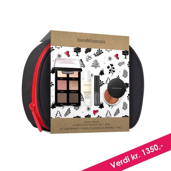 Bilde av bareMinerals Clean Treats 4-Piece Clean Beauty Set + Bag