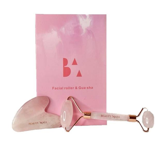 Bilde av BEAUTY MALL - PREMIUM ROSE QUARTZ GUA SHA &