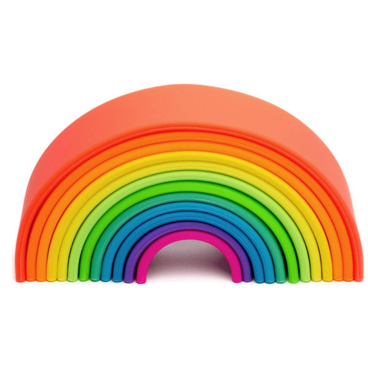 Stor regnbue, Klare farger - leker i silikon / Dëna Toys