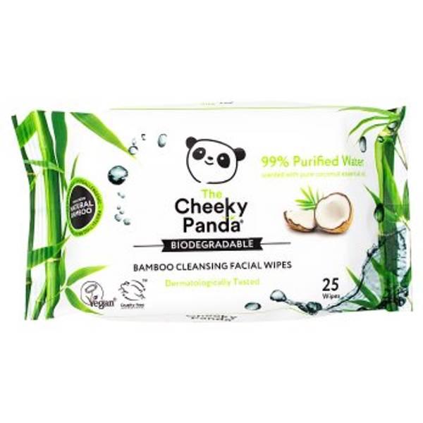 Bilde av Våtservietter til ansikt, Kokosnøtt 25 stk / The Cheeky Panda
